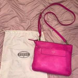 Hot pink Fossil purse